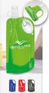 740ml Plastic Foldable Bottle