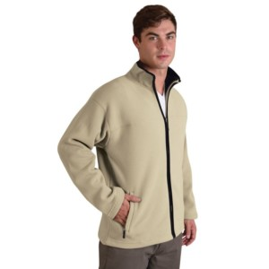 Bonded Fleece jacket Stone